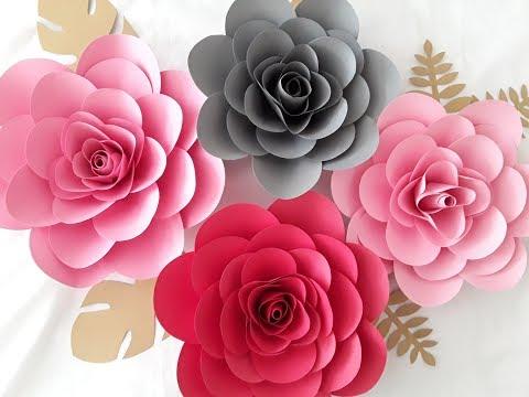 DIY Paper Camillia Flower Tutorial