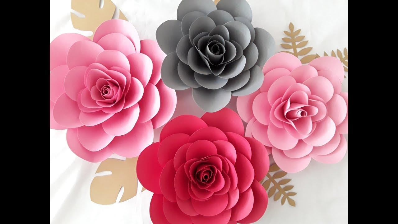 Diy Paper Camillia Flower Tutorial Youtube