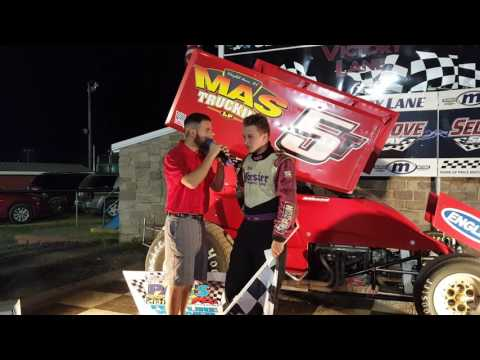 Selinsgrove Speedway 305 Sprint Car Victory Lane 6-04-16