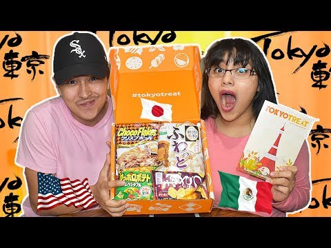 Mexican Americans Try Japanese Candy For The First Time! | Unboxing TokyoTreat