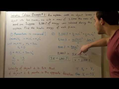 Inelastic Collision Example # 1