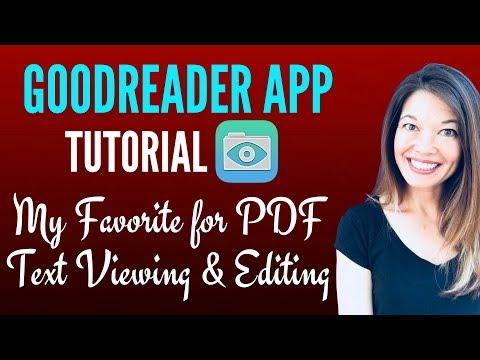 GoodReader App Tutorial - My Favorite PDF Annotation App