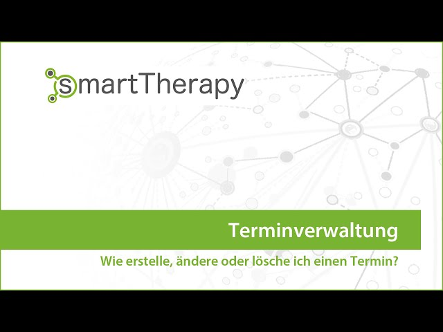 smartTherapy: Terminverwaltung