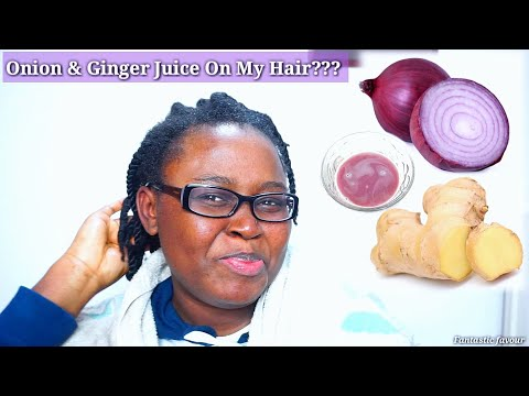 Tried onion and ginger juice for faster hair growth!