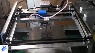 Primeras pruebas ejes XY Impresora Carey by Turtle 3D Printer