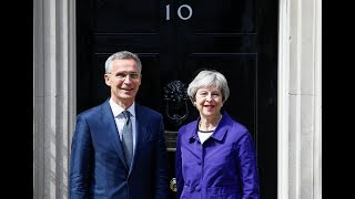 Theresa May and Nato secretary-general, Jens Stoltenberg, hold joint press conference – watch live