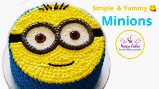 Minions Cake  Pineapple Cake  Cake Decoration  Online Cake classes call 7020601919