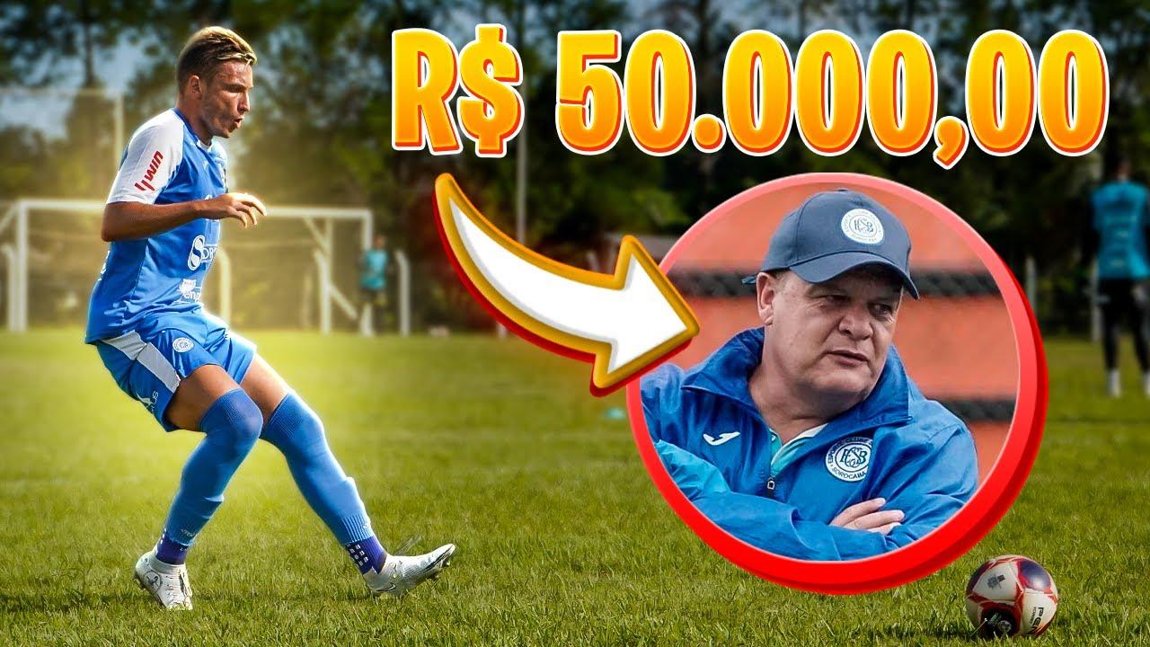 FIZ UMA PROPOSTA DE 50.000,00 REAIS PARA O MEU PAI SER MEU TÉCNICO!!
