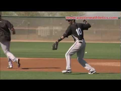 Alexei Ramirez Slow Motion Infield Defense Fundamentals Baseball Fielding Groundball Tips Drills MLB