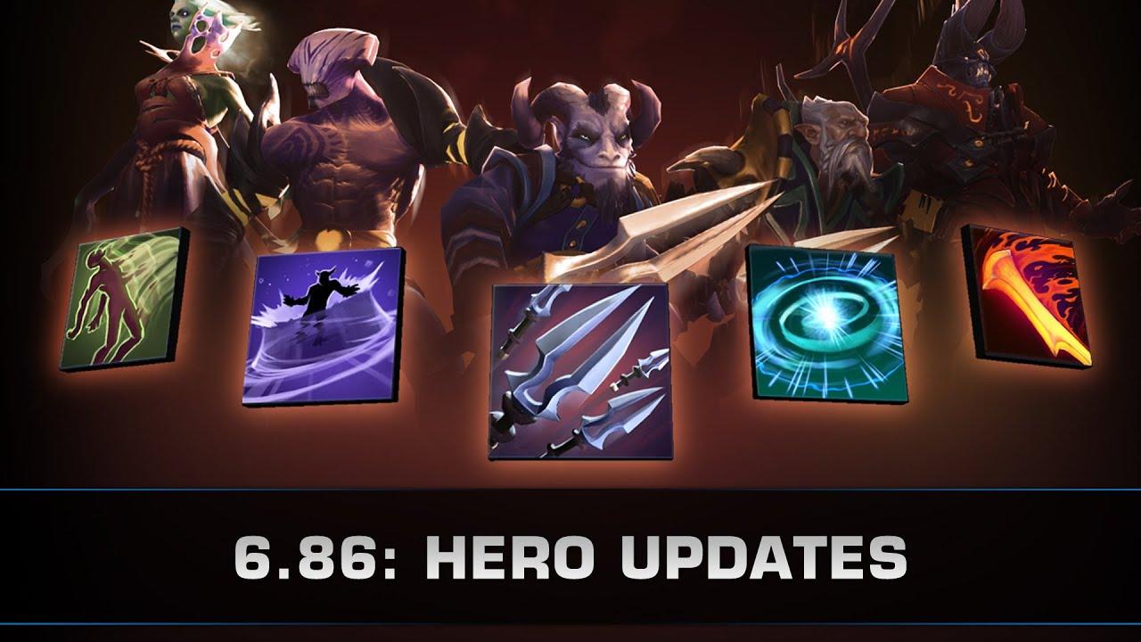 dota 2 6 86 hero updates dp riki void ld doom youtube