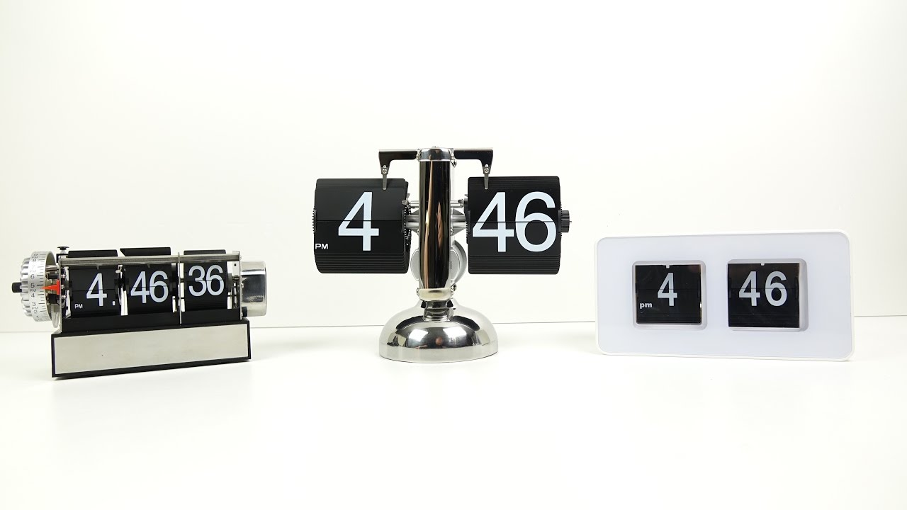 Budget flip clock flip out youtube White flip clock