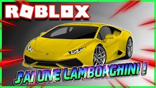 J'AI UNE LAMBORGHINI !! | Roblox Vehicle Tycoon