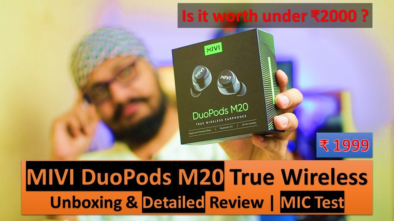 MIVI DuoPods M20 TWS,20Hr Music | Detailed Review & Unboxing | MIC Test | Is it really worth ? 😱