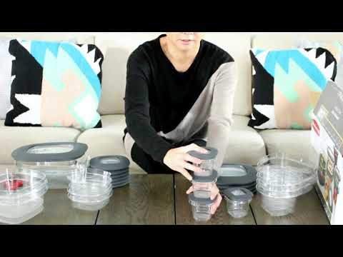 UNBOXING & WATER TEST - #RUBBERMAID CONTAINERS