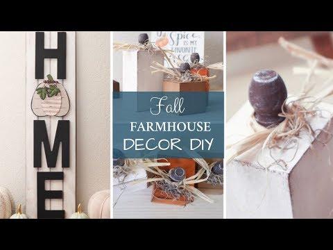 Fall Farmhouse DIY | Wooden Pumpkins | Home Sign