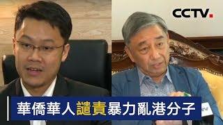 华侨华人谴责暴力乱港分子 | CCTV