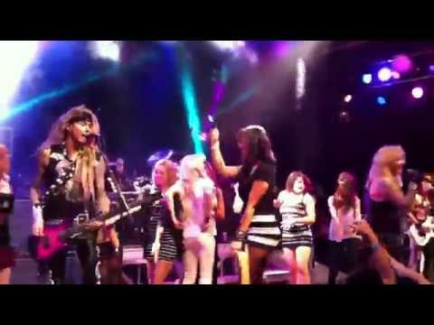 Kim Kardashian on Stage with Steel Panther in Los Angeles