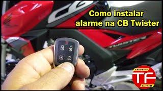 Instalação de alarme na moto Honda CB Twister