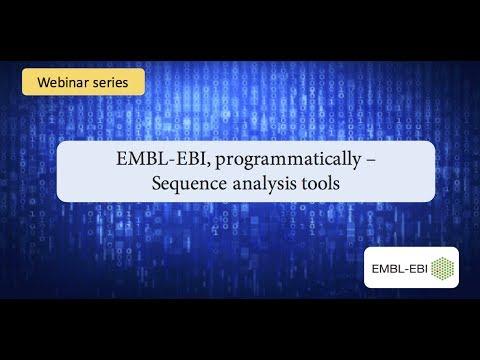 EMBL-EBI programmatically: sequence analysis tools
