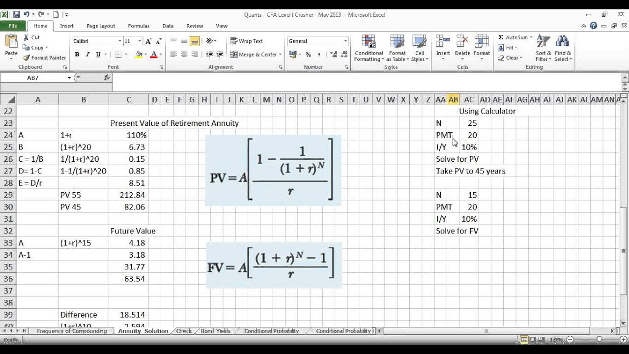 FinShiksha - Finance Concepts - Quant Finance - PV & FV of annuity