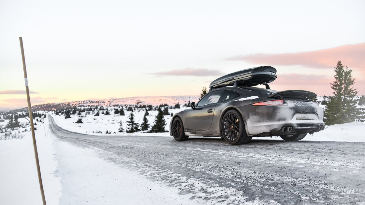 snow ice porsche 911 gts in norway youtube. Black Bedroom Furniture Sets. Home Design Ideas