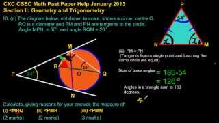 csec cxc maths past paper 2 ques 10a iii jan 2013 exam solutions answers by will edutech