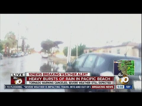 Reed Avenue floods in Pacific Beach