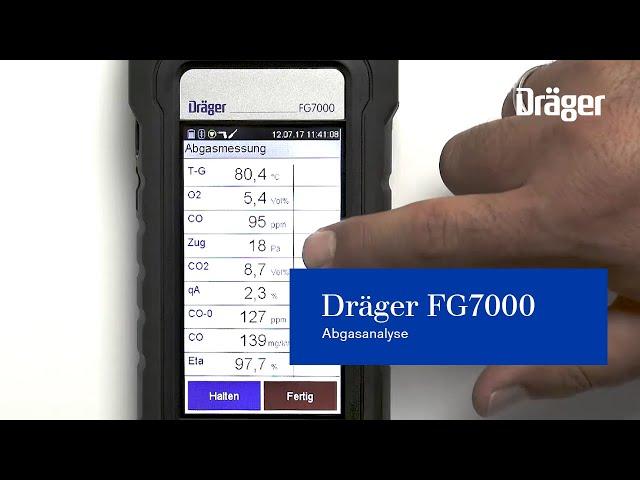 Abgasmessgerät Abgasanalyse Dräger FG7000