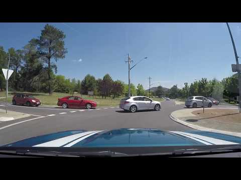 Bad Driver in Canberra ACT Australia HD 20 Jan 2018