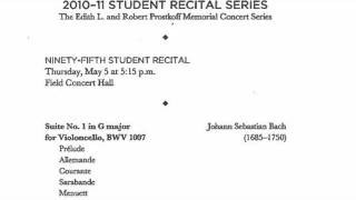 Bach Minuets I & II - Double Bass - Curtis Student Recital Series