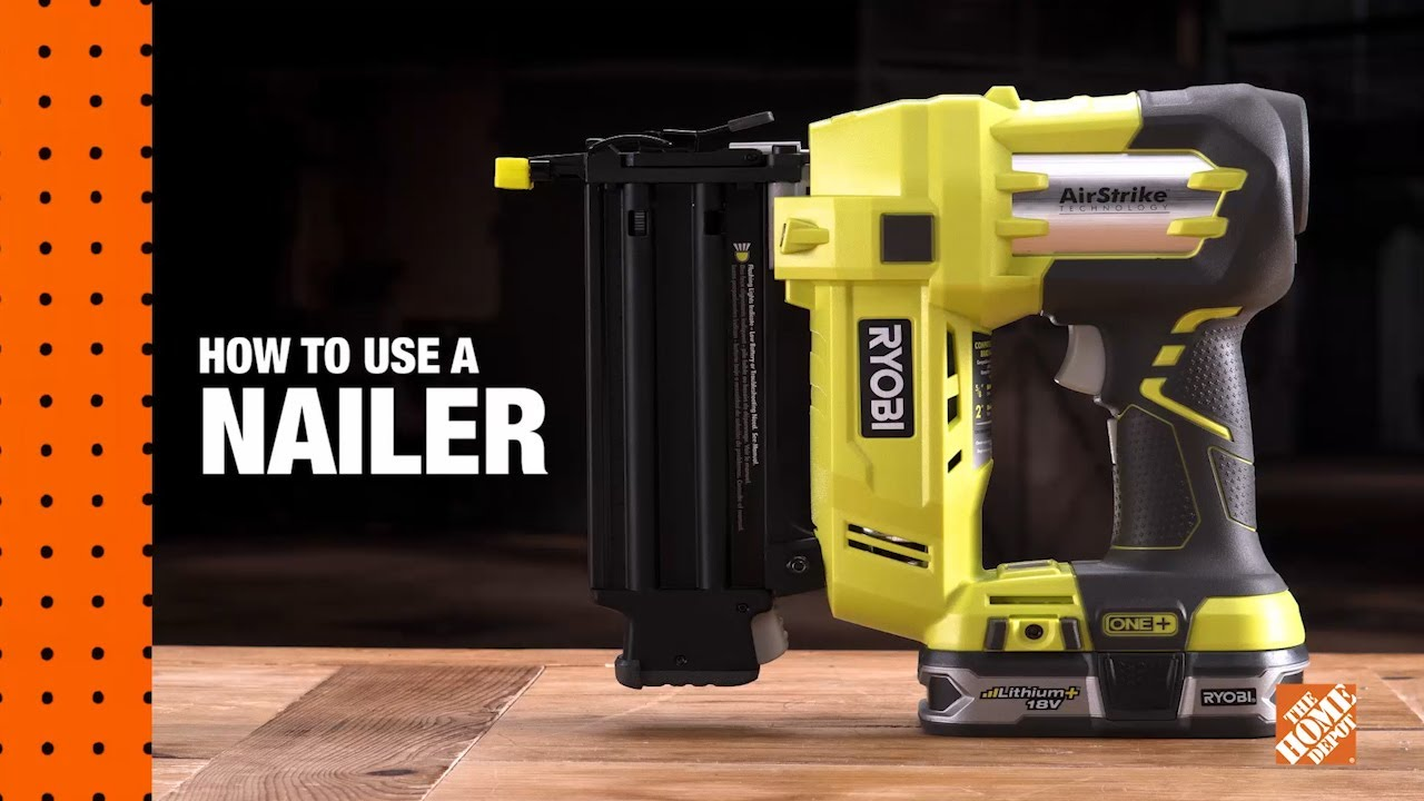 How To Use A Nail Gun A Diy Digital Workshop The Home Depot