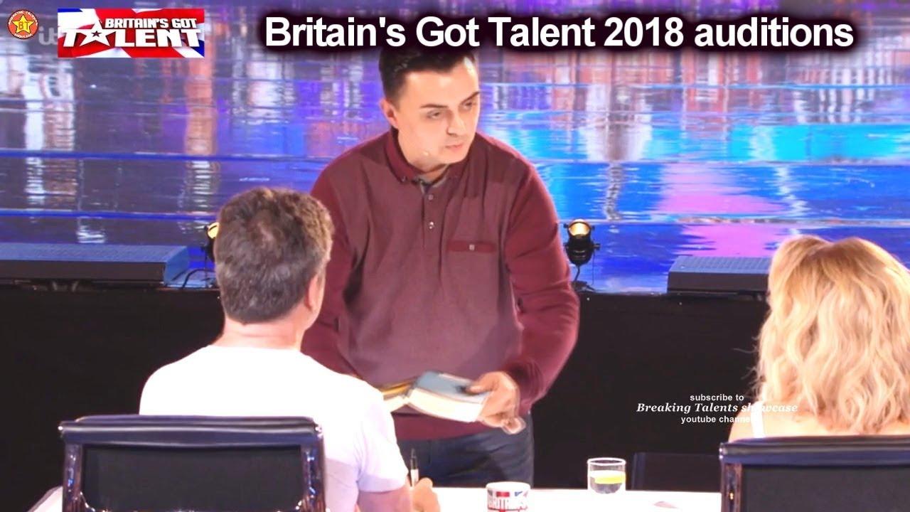 Marc Spelmann Magician Part 1 Gets GOLDEN BUZZER Auditions Britain's Got Talent 2018 S12E01 - YouTube