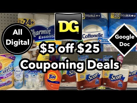 Dollar General   ALL DIGITAL $5 Off $25 Couponing Deals   5 Breakdowns Under $10!   12/7 ONLY!