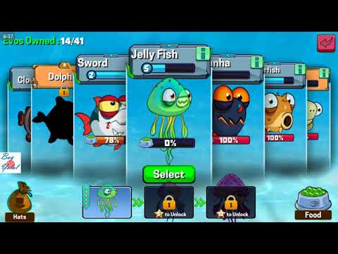 Eatme.io Jelly Fish New Fish Unlocked Review Let's Play