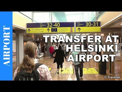 Helsinki Vantaa Airport - transit walk from Gate 27 to 38  to Finnair connection flight to Bangkok