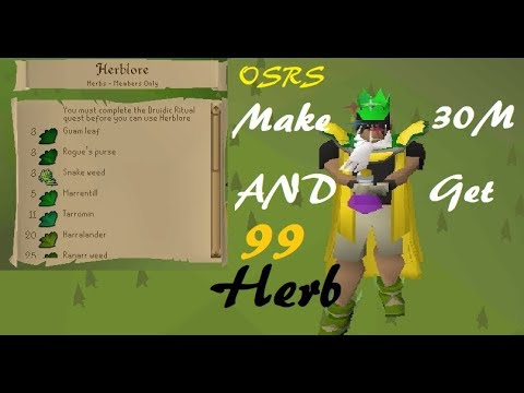 OSRS 30M Money Making Guide Get 99 Herblore Completely FREE