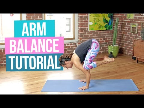 arm balance tutorial  how to do crow pose and hurdlers