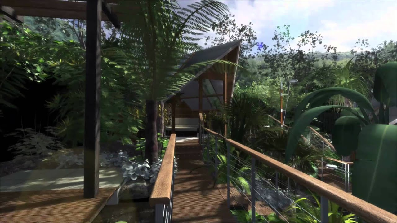 garden design daytime showreel cinema 4d youtube