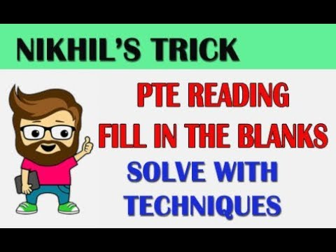 [ ONE TRICK ] PTE READING FILL IN THE BLANKS WITH ANSWERS | TIPS AND TRICKS