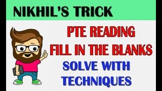 ONE TRICK PTE READING FILL IN THE BLANKS WITH ANSWERS TIPS AND TRICKS