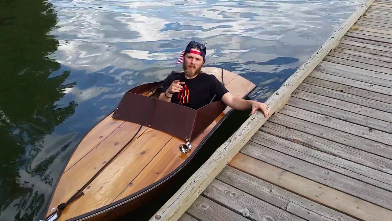 Plywood boat electric inboard small - YouTube