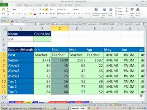 Excel 2010 Magic Trick 789 Extract Records That Match