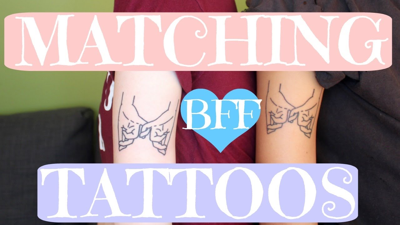 Matching BFF Tattoos - YouTube