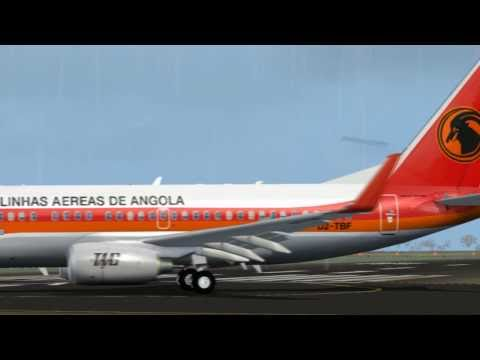 TAAG 737-700 Landing in Sao Tome - FS2004