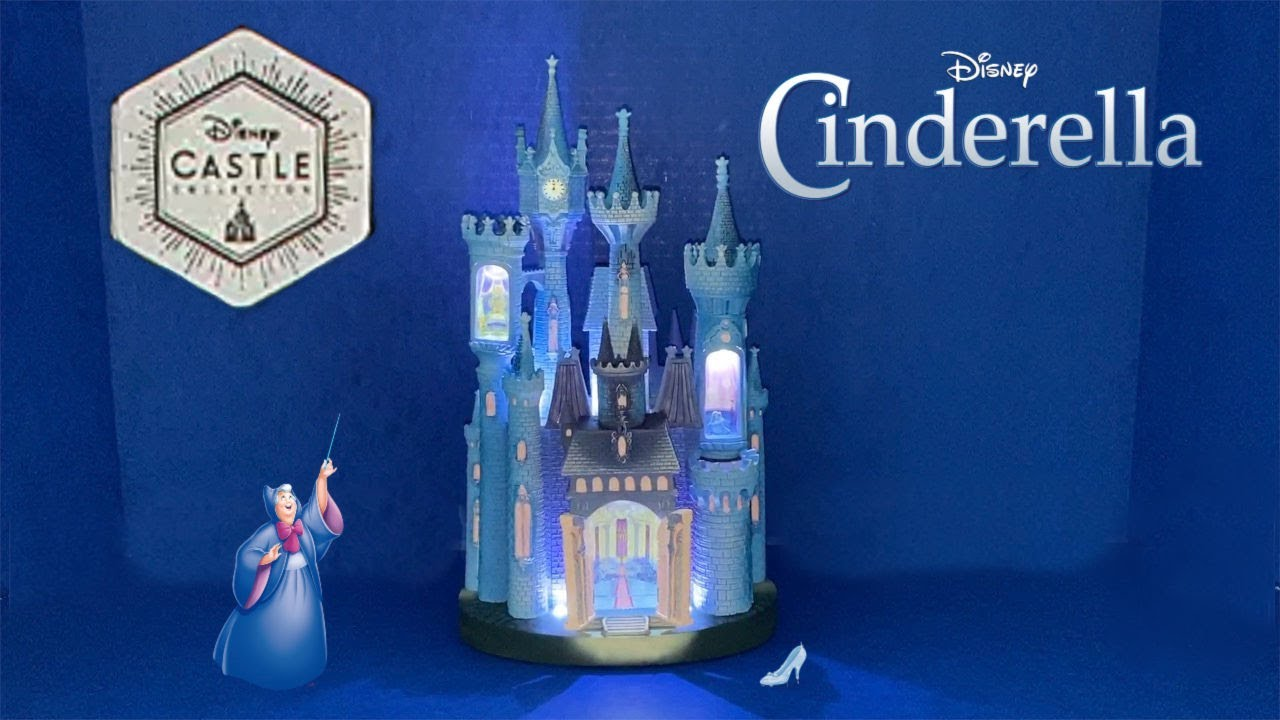 Disney Castle Collection Unboxing Review Cinderella S Castle Light Up Figure Youtube