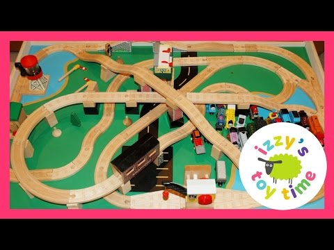 Thomas And Friends Wood Railway Play Table Toy Trains For Kids And