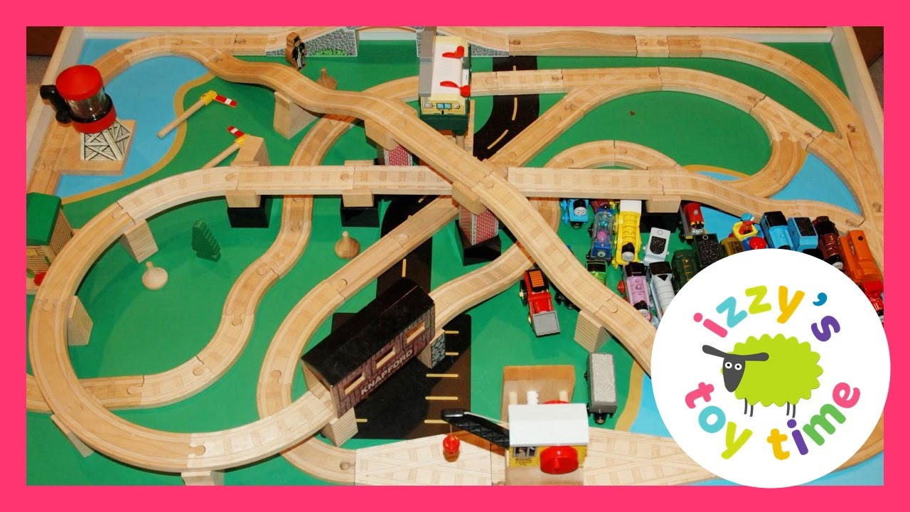 Thomas and Friends Wood Railway Play Table! Toy trains for kids and children and toddlers! - YouTube : thomas wooden train set and table - pezcame.com