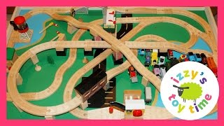 Thomas and Friends Wood Railway Play Table! Toy trains for kids and children and toddlers!