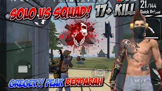 SOLO VS SQUAD 17 KILL!! PEAK AUTO RATA + BOOYAH || FREE FIRE BATLLEGROUND