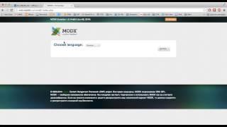 Создание сайта на ModX Evolution за 8 минут! Установка ModX Evo.(, 2014-07-29T09:46:37.000Z)